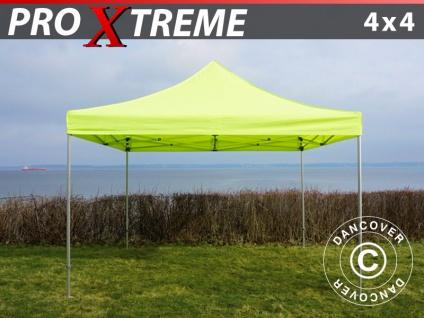 Faltzelt Faltpavillon Wasserdicht FleXtents Xtreme 4x4m Neongelb/Grün