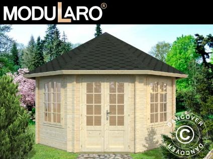 Holzpavillon mit Boden, 4, 21x4, 21x3, 71m, 14, 1m², Natur