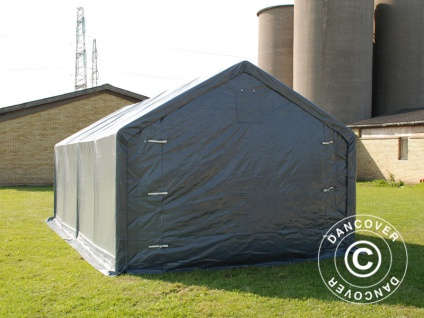 Zeltgarage Garagenzelt PRO 4x8x2x3, 1m, PVC, Grau - Vorschau 5
