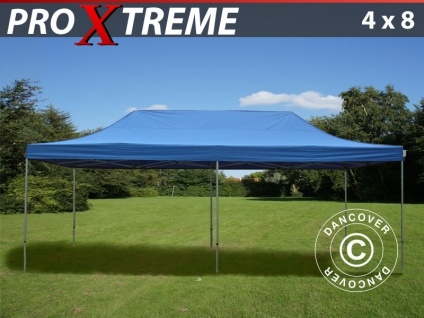Faltzelt Faltpavillon Wasserdicht FleXtents Xtreme 4x8m Blau