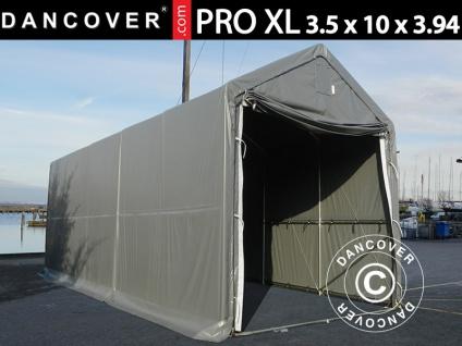Lagerzelt PRO XL Bootszelt Zeltgarage Garagenzelt PRO XL 3, 5x10x3, 3x3, 94m, PVC, Grau