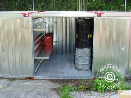 Regal mit Auffangwanne für Container 205cm, 1 St.