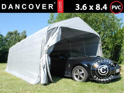 Zeltgarage Lagerzelt Garagenzelt PRO 3, 6x8, 4x2, 68m PVC, Grau
