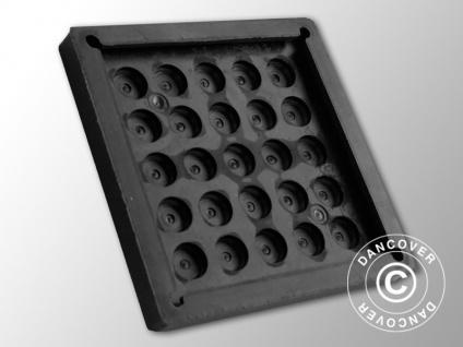 Rumpfschutz aus Gummi, 20x20cm, schwarz