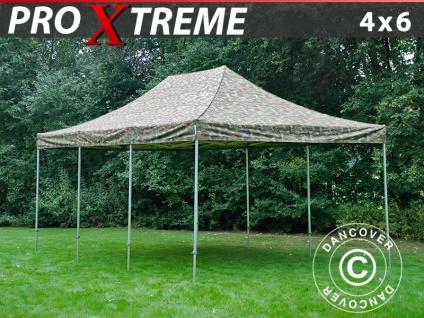 Faltzelt Faltpavillon Wasserdicht FleXtents Xtreme 4x6m Camouflage