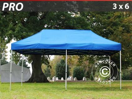 Faltzelt Faltpavillon Wasserdicht FleXtents PRO 3x6m Blau