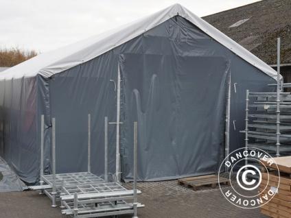Zelthalle Titanium 6x6x3, 5x5, 5m, Weiß / Grau - Vorschau 3