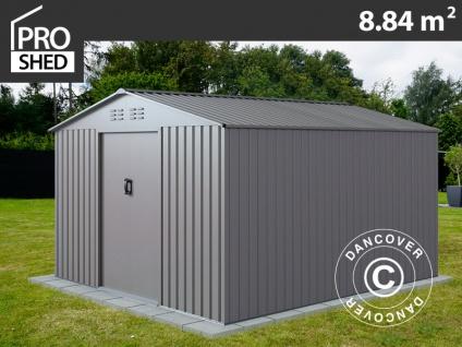 Geräteschuppen Metallgerätehaus 2, 77x3, 19x1, 92m ProShed®, Aluminium Grau