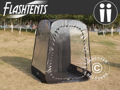 Zuschauer-Faltzelt Faltpavillon Wasserdicht, FlashTents®, 2 Personen, Schwarz