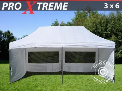 Faltzelt Faltpavillon Wasserdicht FleXtents Xtreme 3x6m Weiß, mit 6 wänden