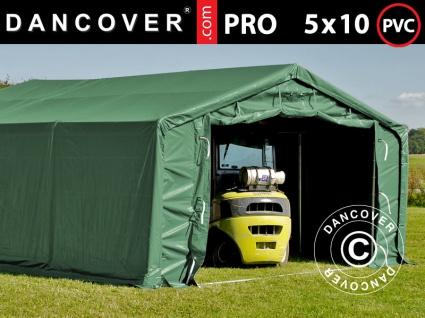 Lagerzelt Zeltgarage Garagenzelt PRO 5x10x2x3, 39m, PVC, Grün