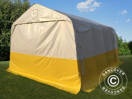 Lager- und Arbeitszelt PRO 3, 6x4, 8x2, 68m, PVC, weiß/gelb, flammfest - Vorschau 2