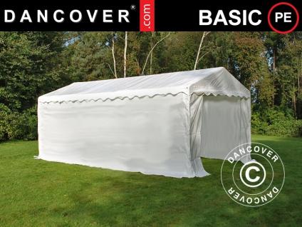 Lagerzelt Zeltgarage Garagenzelt-Basic 2-in-1, 3x6m PE, weiß