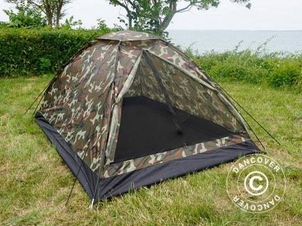 Camouflage-Zelt Woodland IGLU, 2 Personen.