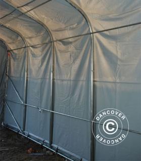 Zeltgarage Garagenzelt PRO 7x14x3, 8m PVC, Grau - Vorschau 4