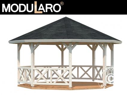 Holzpavillon, 4, 65x4, 65x3, 46m, 18m², Natur