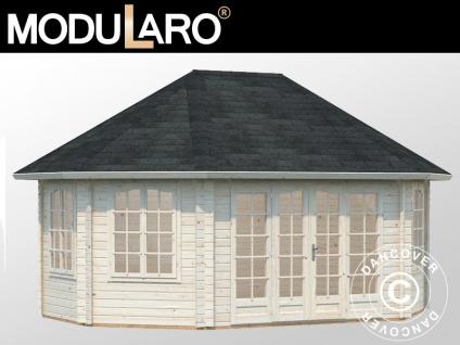 Holzpavillon mit Boden, 5, 71x4, 21x3, 71m, 20, 3m², Natur