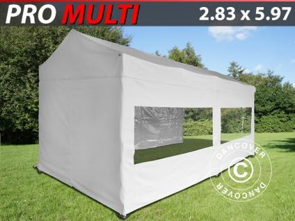 Faltzelt Faltpavillon Wasserdicht FleXtents Multi 2, 83x5, 87m Weiß, mit 6 Wänden