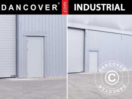 Metalltür für industrielle Lagerhalle Steel, 0, 9x2m, grau