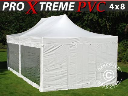 Faltzelt FleXtents Xtreme Heavy Duty 4x8m Weiß, mit 6 Wänden