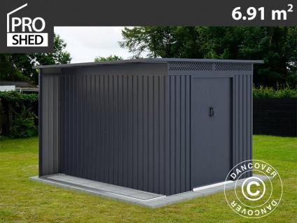 Geräteschuppen Metallgerätehaus mit Überhang, 2, 57x2, 69x1, 87m ProShed®, Anthrazit