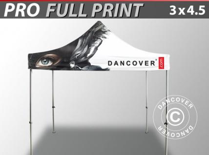 Faltzelt Faltpavillon Wasserdicht FleXtents PRO mit vollflächigem Digitaldruck, 3x4, 5m