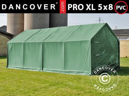 Lagerzelt Zeltgarage Garagenzelt PRO 5x8x2, 5x3, 89m, PVC, Grün