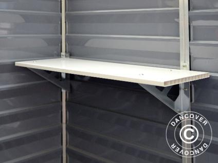 Regal für den Polycarbonat-Gartenschuppen, SkyLight, 30, 5x84, 7cm, Weiß