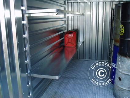 Regal mit Auffangwanne für Container 280cm, 1 St.
