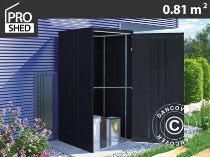 Geräteschuppen Metallgerätehaus/Metallschrank 0, 95x0, 85x1, 8m, ProShed®, anthrazit