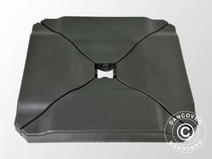Kunststoffgewichte für Sonnenschirm, 0, 76x0, 76x0, 10m, Schwarz