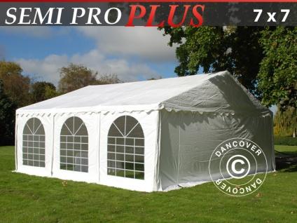 Partyzelt festzelt SEMI PRO Plus 7x7m PVC, Weiß