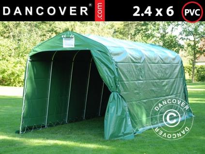 Lagerzelt Zeltgarage Garagenzelt PRO 2, 4x6x2, 34m PVC, Grün