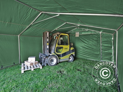 Zeltgarage Garagenzelt PRO 5x10x2x2, 9m, PVC, Grün - Vorschau 5