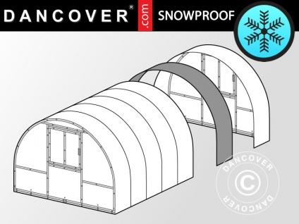 Erweiterung für Gewächshaus Polycarbonat, TITAN Arch+ 320, 6m², 3x2m, Silber