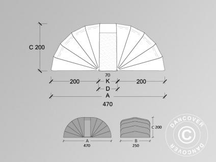 Faltgarage (Auto), 2, 5x4, 7x2m, beige - Vorschau 4
