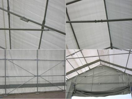 Zelthalle Titanium 7x14x2, 5x4, 2m, Weiß/Grau - Vorschau 5
