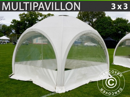 Kuppelzelt Multipavillon 3x3m, Weiß