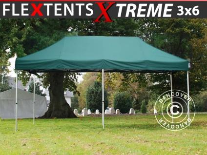 Faltzelt Faltpavillon Wasserdicht FleXtents Xtreme 3x6m Grün