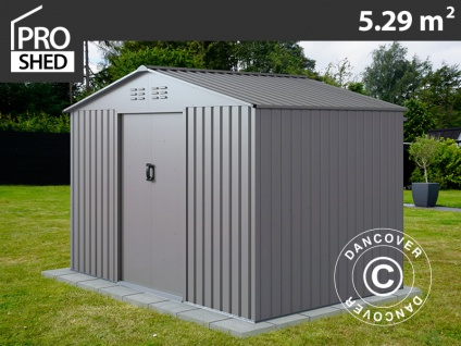 Geräteschuppen Metallgerätehaus 2, 77x1, 91x1, 92m ProShed®, Aluminium Grau