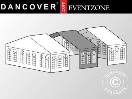 3m-Erweiterung für professionelles Partyzelt Festzelt EventZone 9x9m PVC, Weiß