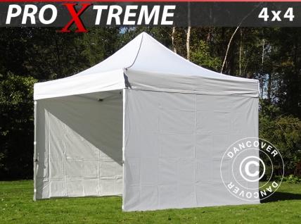 Faltzelt Faltpavillon Wasserdicht FleXtents Xtreme 4x4m Weiß, mit 4 wänden