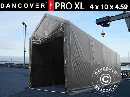 Lagerzelt PRO XL Bootszelt Zeltgarage Garagenzelt PRO XL 4x10x3, 5x4, 59m, PVC, Grau