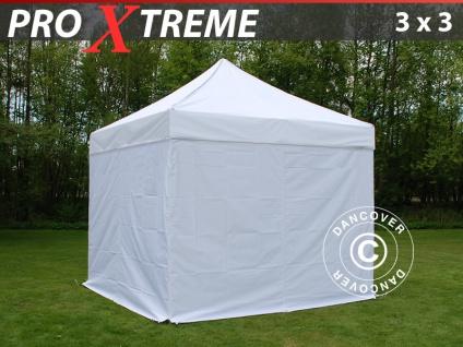 Faltzelt Faltpavillon Wasserdicht FleXtents Xtreme 3x3m Weiß, mit 4 wänden