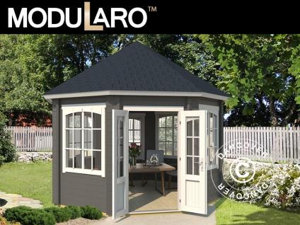 Holzpavillon Lorraine, achtkantig 3, 47x3, 47x3, 45m, 44mm, Dunkelgrau