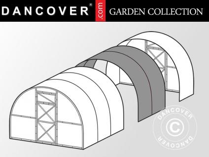 Erweiterung für Gewächshaus Polycarbonat TITAN Arch 60, 6m², 3x2m, Silber