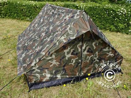 Camouflage-Zelt Woodland MINI PACK, 2 Personen