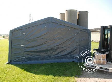 Zeltgarage Garagenzelt PRO 5x10x2x2, 9m, PVC, Grau - Vorschau 3
