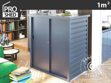 Geräteschuppen Metallgerätehaus/Metallschrank mit Schiebetür 1, 25x0, 8x1, 31m, ProShed®, anthrazit