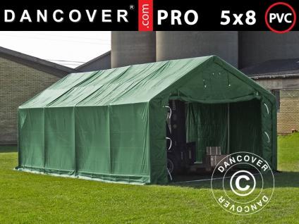 Lagerzelt Zeltgarage Garagenzelt PRO 5x8x2x3, 39m, PVC, Grün